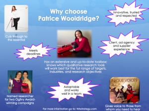 Patrice Wooldridge Hightlights